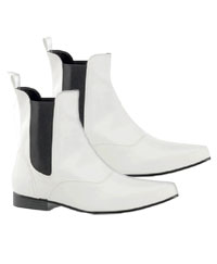 Adult White Chelsea Boots - Kostüm Stiefel