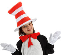 Zubehör-Set für Kinder Dr. Seuss - Cat In The Hat Kostüme
