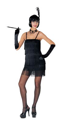 Hot Black Flapper Costume - Flapper Kostüme