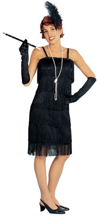 Charleston Black Flapper Costume - Flapper Kostüme
