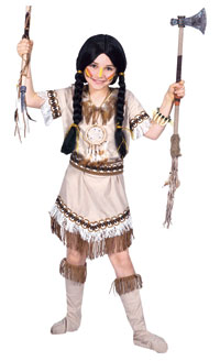 Ausführen tragen Indian Girl Kostüm - Native American Indian Kostüme
