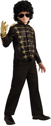 Boys Deluxe schwarz Michael Jackson Billie Jean Jacke Kostüm